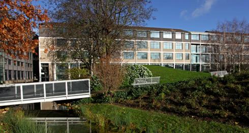 Le campus Crédit Agricole et son parc vitrine de la banque verte.