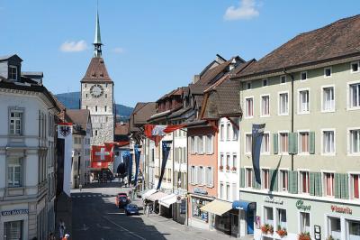 Le village de Aarau en Suisse - Crédit Flick par bingisser