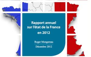 RAPPORT ANNUEL SUR L'ÉTAT DE LA FRANCE EN 2012 Avis du Conseil économique, social et environnemental présenté par M. Roger Mongereau, rapporteur