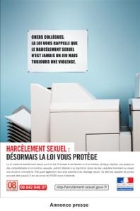 Harcèlement sexuel : modification du règlement intérieur et affichage obligatoire